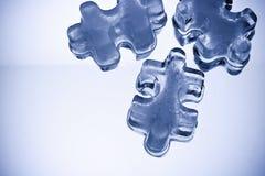 γρίφος κομματιών πάγου κύβ& Στοκ Εικόνες