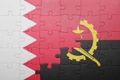γρίφος με τη εθνική σημαία της Ανγκόλα και του Μπαχρέιν Στοκ εικόνα με δικαίωμα ελεύθερης χρήσης