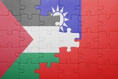 Γρίφος με τη εθνική σημαία της Ταϊβάν και της Παλαιστίνης Στοκ εικόνα με δικαίωμα ελεύθερης χρήσης