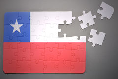 Γρίφος με τη εθνική σημαία της Χιλής Στοκ φωτογραφίες με δικαίωμα ελεύθερης χρήσης