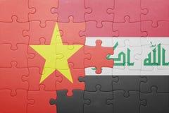 Γρίφος με τη εθνική σημαία του Ιράκ και του Βιετνάμ Στοκ εικόνα με δικαίωμα ελεύθερης χρήσης