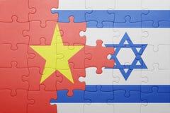 Γρίφος με τη εθνική σημαία του Ισραήλ και του Βιετνάμ Στοκ Εικόνα