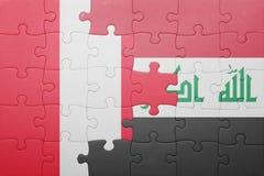 Γρίφος με τη εθνική σημαία του Περού και του Ιράκ Στοκ εικόνες με δικαίωμα ελεύθερης χρήσης