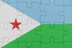 Γρίφος με τη εθνική σημαία του Τζιμπουτί στοκ φωτογραφία με δικαίωμα ελεύθερης χρήσης