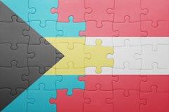 γρίφος με τη εθνική σημαία των Μπαχαμών και της Αυστρίας Στοκ φωτογραφία με δικαίωμα ελεύθερης χρήσης