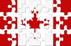 γρίφος σημαιών του Καναδά διανυσματική απεικόνιση