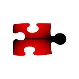 Γρίφος τορνευτικών πριονιών κόκκινος και μαύρος Στοκ φωτογραφίες με δικαίωμα ελεύθερης χρήσης