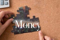 Γρίφος τορνευτικών πριονιών με τα χρήματα λέξης Στοκ φωτογραφίες με δικαίωμα ελεύθερης χρήσης
