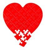 Γρίφος τορνευτικών πριονιών σε μια μορφή μιας καρδιάς στοκ φωτογραφίες με δικαίωμα ελεύθερης χρήσης