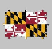 Γρίφος τορνευτικών πριονιών της σημαίας της Μέρυλαντ στο εραλδικό έμβλημα του George Calvert, 1$ος βαρώνος Βαλτιμόρη διανυσματική απεικόνιση