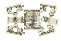 Γρίφος χρημάτων τραπεζογραμματίων δολαρίων Στοκ φωτογραφίες με δικαίωμα ελεύθερης χρήσης
