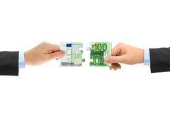 γρίφος χρημάτων χεριών Στοκ Φωτογραφία