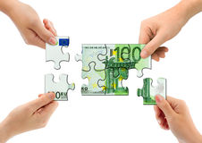 γρίφος χρημάτων χεριών Στοκ Εικόνες