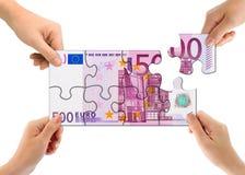 γρίφος χρημάτων χεριών Στοκ Εικόνα