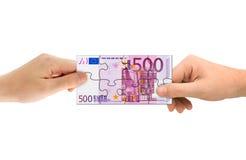 γρίφος χρημάτων χεριών Στοκ φωτογραφίες με δικαίωμα ελεύθερης χρήσης