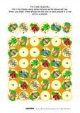 Γρίφος sudoku εικόνων με τα ζωύφια και τους κανθάρους Στοκ Εικόνες