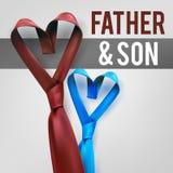 Γραβάτα αγάπης γιων πατέρων Στοκ εικόνα με δικαίωμα ελεύθερης χρήσης