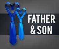 Γραβάτα αγάπης γιων πατέρων Στοκ φωτογραφία με δικαίωμα ελεύθερης χρήσης