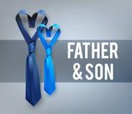 Γραβάτα αγάπης γιων πατέρων Στοκ Φωτογραφίες