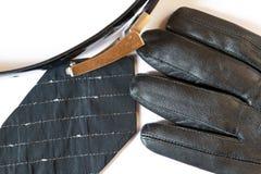 γραβάτα γαντιών ζωνών Στοκ Φωτογραφία