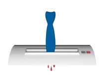 Γραβάτα που κολλιέται στο shedder Στοκ Εικόνα