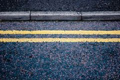 γραμμές κίτρινες στοκ εικόνες
