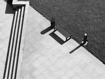 Γραμμές και σκιές στον ήλιο πρωινού Στοκ Εικόνες