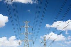 Γραμμές μετάδοσης δύναμης στοκ φωτογραφία με δικαίωμα ελεύθερης χρήσης