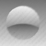 Γραμμές με το διαφορετικές πλάτος και τη μορφή που κάνει μια σφαίρα Στοκ φωτογραφία με δικαίωμα ελεύθερης χρήσης