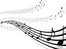 γραμμές μουσικές notes Στοκ εικόνα με δικαίωμα ελεύθερης χρήσης