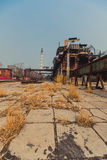 Γραμμές παραγωγής εργοστασίων σιδήρου και χάλυβα Στοκ εικόνες με δικαίωμα ελεύθερης χρήσης