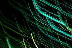 γραμμές πράσινου φωτός Στοκ Εικόνα