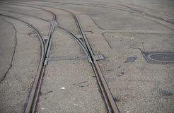 Γραμμές σιδηροδρόμων Colse επάνω Στοκ εικόνες με δικαίωμα ελεύθερης χρήσης