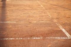 Γραμμές στο γήπεδο αντισφαίρισης Στοκ εικόνες με δικαίωμα ελεύθερης χρήσης