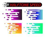 Γραμμές ταχύτητας καθορισμένες απομονωμένες στο λευκό Απεικόνιση επίδρασης κινήσεων ελεύθερη απεικόνιση δικαιώματος