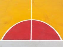 Γραμμές του γήπεδο μπάσκετ Στοκ φωτογραφίες με δικαίωμα ελεύθερης χρήσης