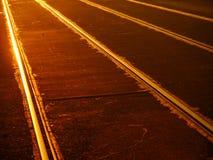 Γραμμές τραμ Στοκ φωτογραφία με δικαίωμα ελεύθερης χρήσης