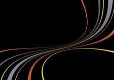 γραμμές χρώματος που στροβιλίζονται Στοκ φωτογραφία με δικαίωμα ελεύθερης χρήσης