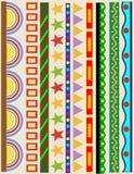 γραμμές χρώματος συνόρων δ&io Στοκ φωτογραφίες με δικαίωμα ελεύθερης χρήσης