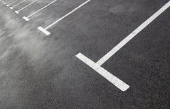 Γραμμές χώρων στάθμευσης Στοκ φωτογραφία με δικαίωμα ελεύθερης χρήσης