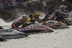 Γραμμή έναρξης ανταγωνισμού Aquabike Στοκ Εικόνα