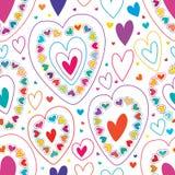 Γραμμή αγάπης πολλοί ζωηρόχρωμο άνευ ραφής σχέδιο ελεύθερη απεικόνιση δικαιώματος