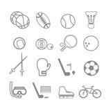 Γραμμή αθλητικών εικονιδίων Στοκ εικόνα με δικαίωμα ελεύθερης χρήσης