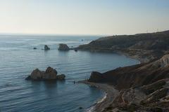 Γραμμή ακτών της Κύπρου Στοκ Εικόνες