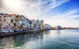 Γραμμή δαπανών, ισχία νησιών, Ιταλία Στοκ Φωτογραφία