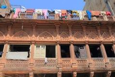 Γραμμή ενδυμάτων πλύσης πλυντηρίων Jodhpur Ινδία Στοκ φωτογραφία με δικαίωμα ελεύθερης χρήσης