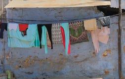 Γραμμή ενδυμάτων πλύσης πλυντηρίων Jodhpur Ινδία Στοκ Εικόνες