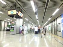 Γραμμή 11, εσωτερικό τοπίο μετρό Shenzhen σταθμών μετρό Baoan Στοκ φωτογραφίες με δικαίωμα ελεύθερης χρήσης