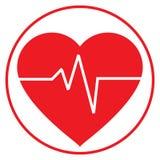 Γραμμή ζωής μέσα σε μια μορφή καρδιών Στοκ εικόνα με δικαίωμα ελεύθερης χρήσης