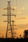 Γραμμή ηλεκτρικής δύναμης Στοκ εικόνες με δικαίωμα ελεύθερης χρήσης